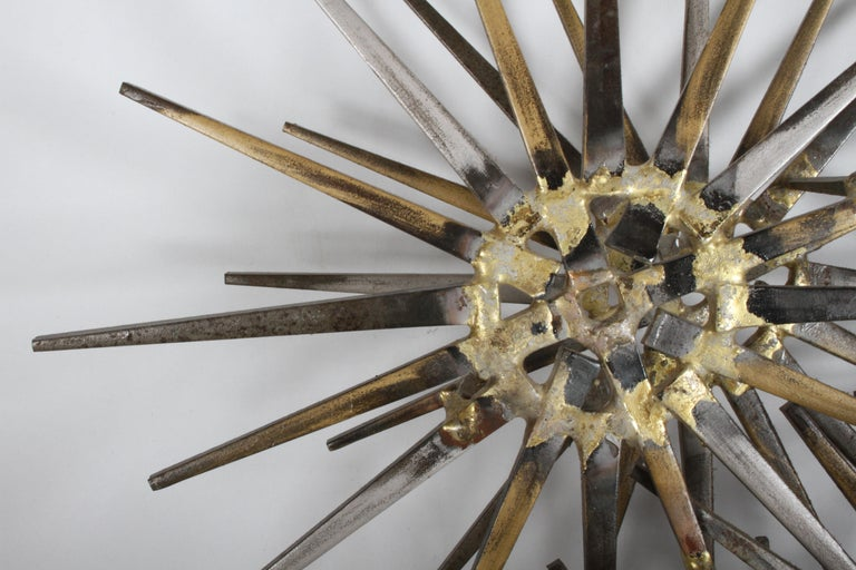Mid-Century Modern Marc Weinstein Cluster of Stars Brutalist Nail Wall Sculpture In Good Condition In St. Louis, MO