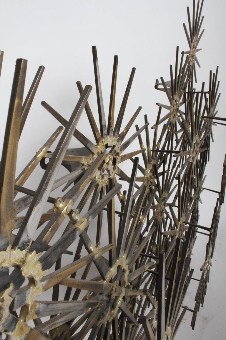 Mid-20th Century Mid-Century Modern Marc Weinstein Cluster of Stars Brutalist Nail Wall Sculpture