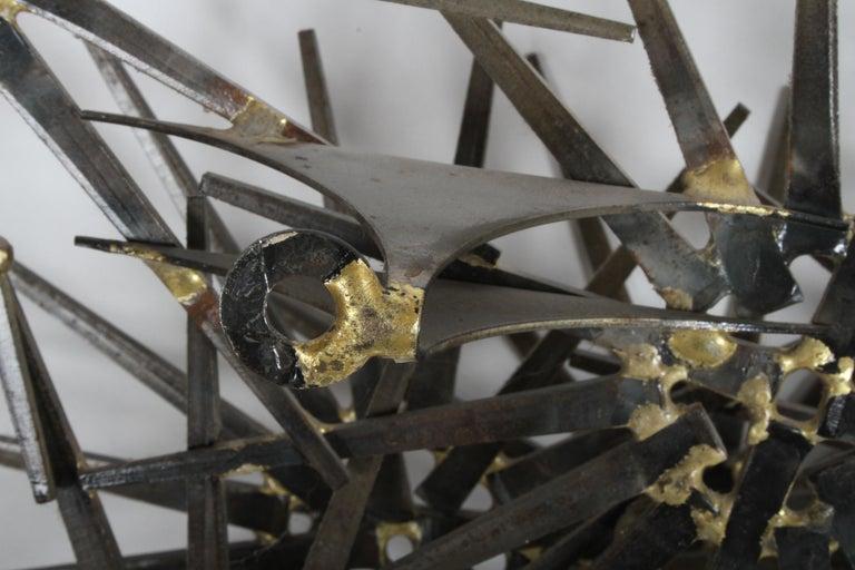 Mid-Century Modern Marc Weinstein Cluster of Stars Brutalist Nail Wall Sculpture 2