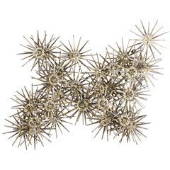 Mid-Century Modern Marc Weinstein Cluster of Stars Brutalist Nail Wall Sculpture