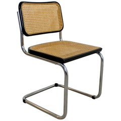Mid-Century Modern Marcel Breuer Cesca Cantilever Chrome Side Chair, Italy 1960s