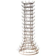 Mid-Century Modern Marcel Duchamp Style Metal Rack, France, 1950