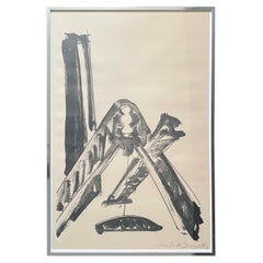 Mid-Century Modern Mark Di Suvero Signed Abstract Lithograph 6/26 1970s