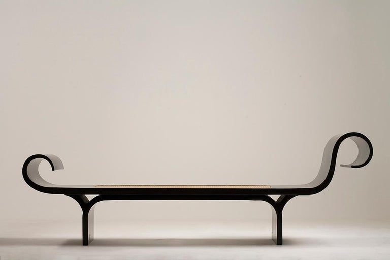 Lacquered Mid-Century Modern Marquesa by Oscar and Anna Maria Niemeyer, Brazil, 1970s For Sale