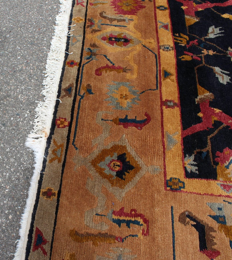 For your consideration is a massively large area rug or carpet by Tufenkian. In good vintage condition. The dimensions are 103