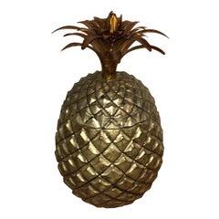 Mid-Century Modern Mauro Manetti Style Italian Gilt Pineapple Barware Ice Bucket