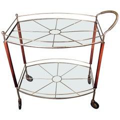 Mid-Century Modern MCM Bar Cart, Danish Modern, 1960s-1970s