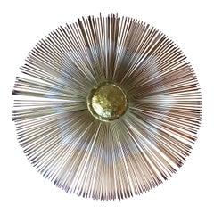 Mid Century Modern MCM Wire Sunburst Sculpture