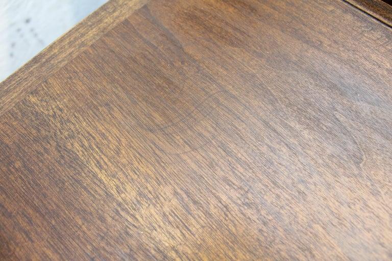 Mid-Century Modern Merton Gershun American of Martinsville Walnut End Table For Sale 8