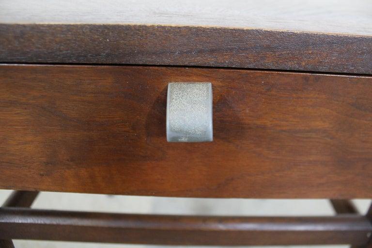 Mid-Century Modern Merton Gershun American of Martinsville Walnut End Table For Sale 4