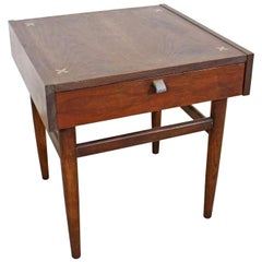 Mid-Century Modern Merton Gershun American of Martinsville Walnut End Table
