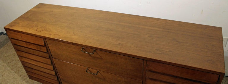 Mid-20th Century Mid-Century Modern Merton Gershun for American of Martinsville Walnut Credenza For Sale