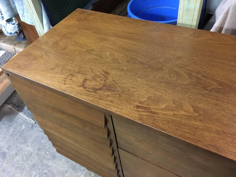 Mid-Century Modern Merton Gershun for American of Martinsville Walnut Credenza For Sale 4
