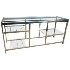 Mid-Century Modern Metal and Glass Table