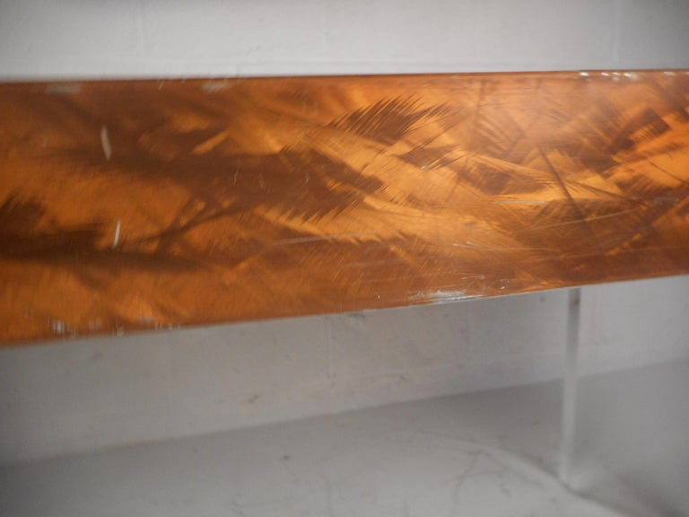 Mid-Century Modern Metal and Lucite Dining Table For Sale 7