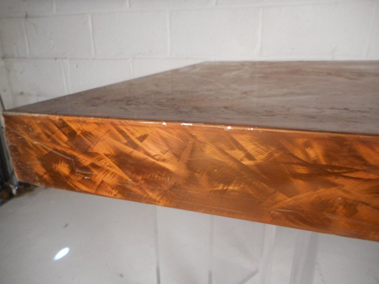 Mid-Century Modern Metal and Lucite Dining Table For Sale 8