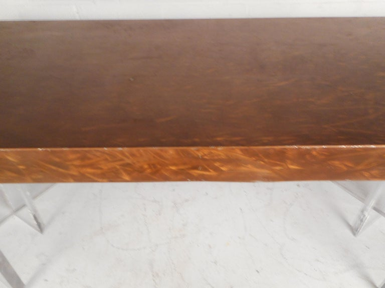 Mid-Century Modern Metal and Lucite Dining Table For Sale 4