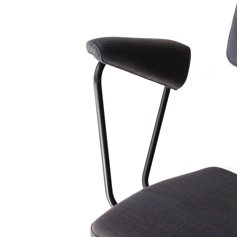 Mid-Century Modern Metal Brass Cotton Swivel Chair, Germany, 1930 For Sale 1