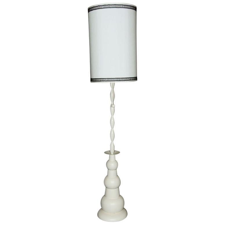 Mid-Century Modern Metal Floor Lamp