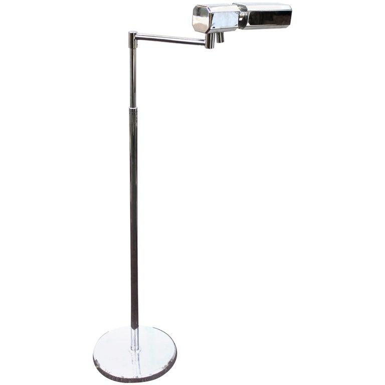 Mid Century Reading Lamp: Mid-Century Modern Metal Reading Lamp With Adjustable