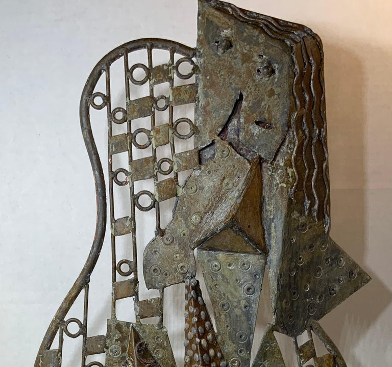 Mid-Century Modern Metallic Sculpture, circa 1960s In Good Condition For Sale In Delray Beach, FL