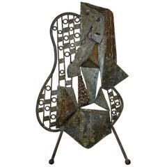 Mid-Century Modern Metallic Sculpture, circa 1960s