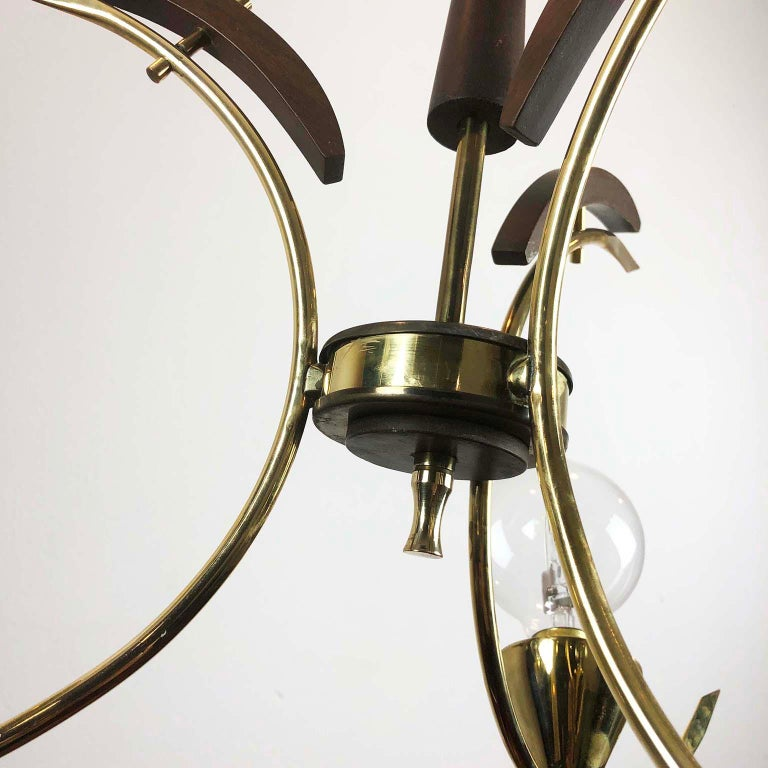 Mid-20th Century Mid-Century Modern Mexican Chandelier For Sale