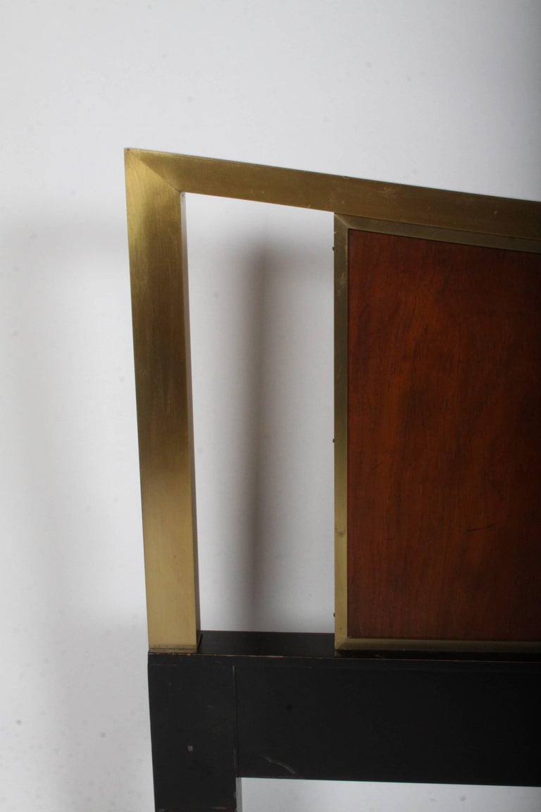 American Mid-Century Modern Michael Taylor for Baker King Headboard For Sale