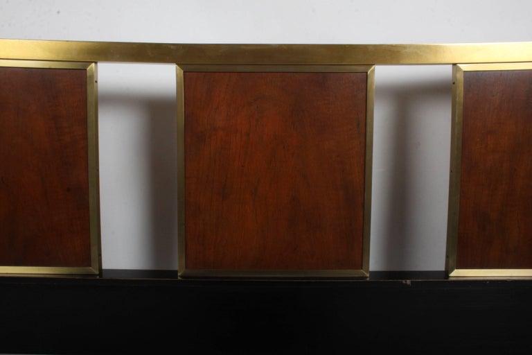 Brass Mid-Century Modern Michael Taylor for Baker King Headboard For Sale