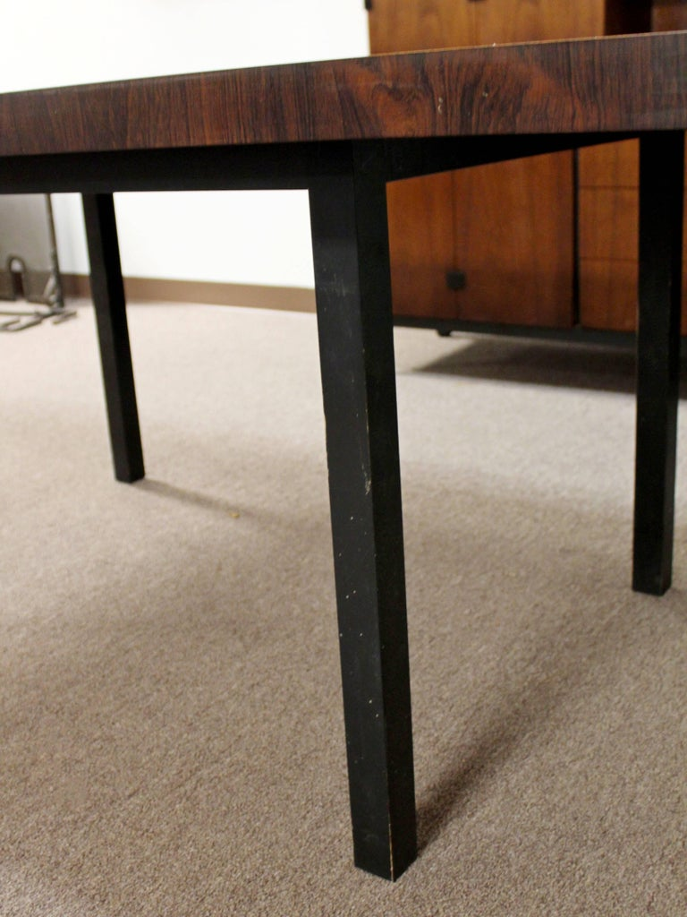 Mid-Century Modern Milo Baughman Directional Dining Table Dillinghman Six Chairs For Sale 4