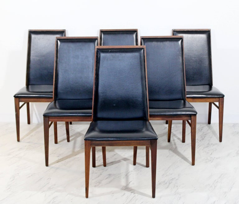 Mid-Century Modern Milo Baughman Directional Dining Table Dillinghman Six Chairs In Good Condition For Sale In Keego Harbor, MI