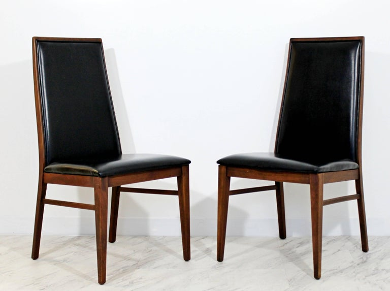 Mid-20th Century Mid-Century Modern Milo Baughman Directional Dining Table Dillinghman Six Chairs For Sale