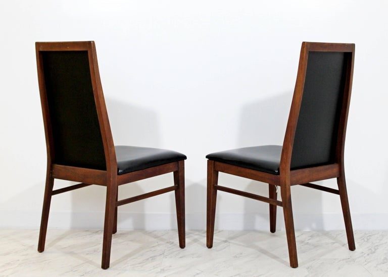 Walnut Mid-Century Modern Milo Baughman Directional Dining Table Dillinghman Six Chairs For Sale