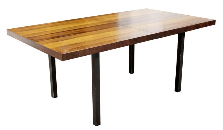 Mid-Century Modern Milo Baughman Directional Dining Table Dillinghman Six Chairs For Sale 2
