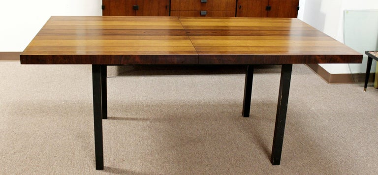 Mid-Century Modern Milo Baughman Directional Dining Table Dillinghman Six Chairs For Sale 3