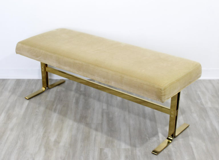 Late 20th Century Mid-Century Modern Brass Bench Seat for DIA, 1970s For Sale