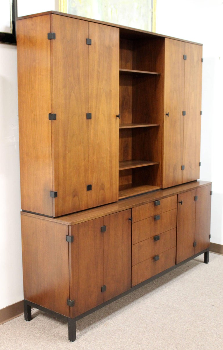 """For your consideration is an incredible, walnut credenza and removable hutch, by Milo Baughman for Dillingham, circa the 1960s. In excellent condition, with some minor surface scratches. The dimensions are 72"""" (6') W x 18"""" D x 79"""" H. Matching dining"""