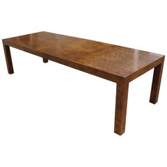 Mid-Century Modern Milo Baughman for Parsons Burl Wood Dining Table