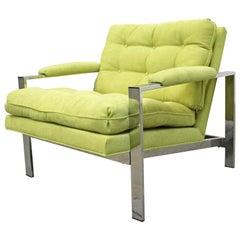 Mid-Century Modern Milo Baughman for Thayer Coggin Chrome Lounge Chair