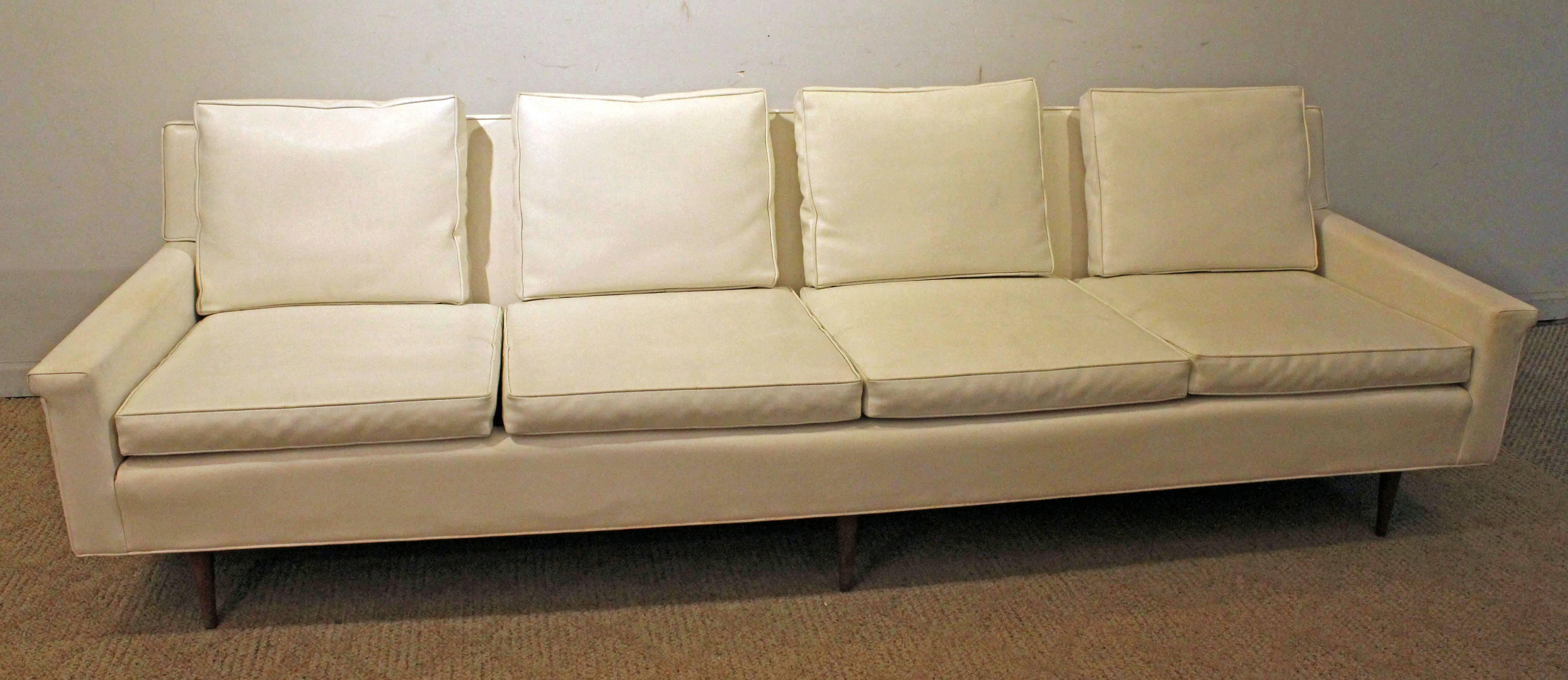 Mid Century Modern Milo Baughman For Thayer Coggin Vinyl Sofa For Sale At  1stdibs