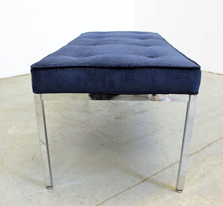 Mid-Century Modern Milo Baughman Style Chrome Bench For Sale 1