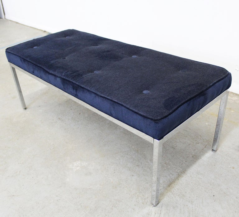 Mid-Century Modern Milo Baughman Style Chrome Bench In Good Condition For Sale In Wilmington, DE