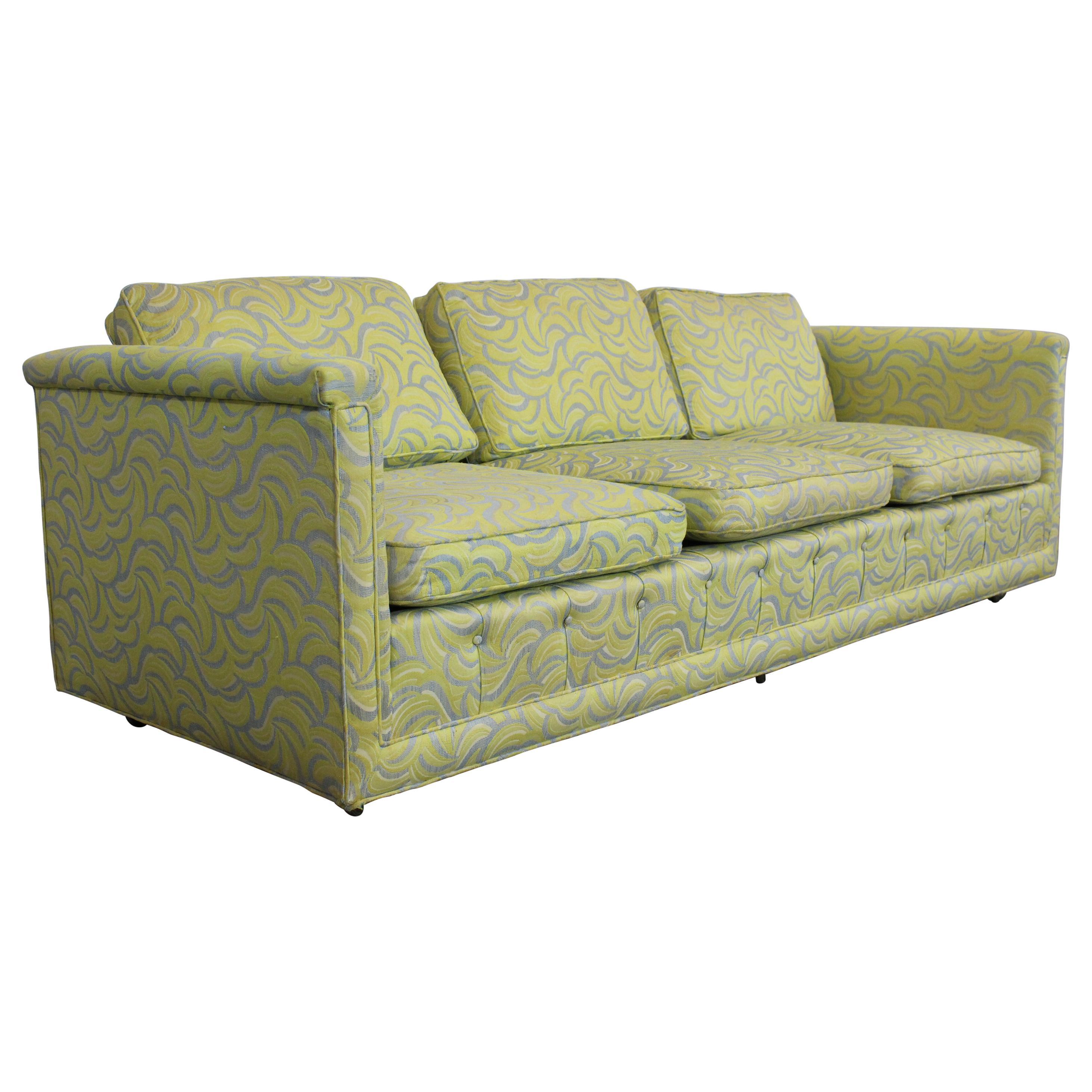 Mid-Century Modern Milo Baughman Style Low Sofa