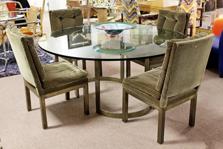 Mid-Century Modern Milo Baughman Thayer Coggin Bronze & Glass Dining Table 1970s For Sale 7