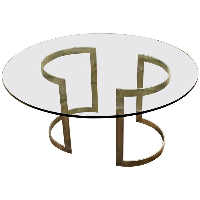 Mid-Century Modern Milo Baughman Thayer Coggin Bronze & Glass Dining Table 1970s For Sale