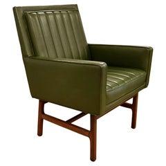 Mid-Century Modern Milo Baughman Thayer Coggin Walnut Lounge Accent Chair 1960s
