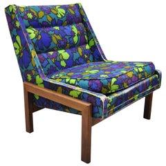 Mid-Century Modern Milo Baughman Walnut Frame Slipper Lounge Hiprest Chair