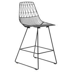 Mid-Century Modern, Minimalist Counter Stool, in Black by Bend Goods