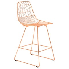 Mid-Century Modern, Minimalist Counter Stool, in Copper by Bend Goods
