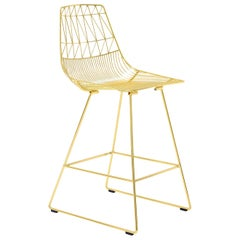 Mid-Century Modern, Minimalist Counter Stool, in Gold by Bend Goods